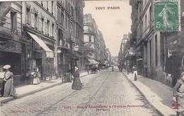 75. PARIS. CPA  ANIMATION. RUE D' ANGOULÊME A L'AVENUE PARMENTIER. . SÉRIE TOUT PARIS. ANNEE 1909 - Arrondissement: 11