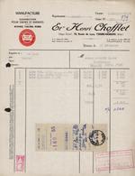 FACTURE ETS HENRI CHOFFLET - MANUFACTURE - YZEURE - MOULINS - ALLIER - AUCOURT - SAULIEU - 17 DECEMBRE 1955 - 1950 - ...