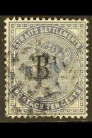 1882 10c Slate, Wmk CC, SG 7, Fine Used. For More Images, Please Visit Http://www.sandafayre.com/itemdetails.aspx?s=6344 - Siam