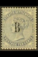 1882 10c Slate, Wmk CA, SG 21, Fine Mint, Toned Gum. For More Images, Please Visit Http://www.sandafayre.com/itemdetails - Siam
