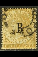1882 4c Pale Brown, SG 17, Very Fine Used, Singapore Cancel. For More Images, Please Visit Http://www.sandafayre.com/ite - Siam