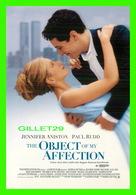 """AFFICHES DE FILM - """" THE OBJECT OF MY AFFECTION """" - AVEC JENNIFER ANISTON & PAUL RUDD - AVANTCARD 1998 No 2204 - - Affiches Sur Carte"""