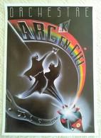 AFFICHE ORCHESTRE ARC K EN CIEL Sauveur 3/88 - Illustrateur Dessin - Posters