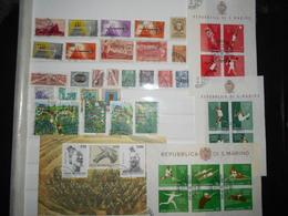 Saint-marin Lot De 28 Timbres , 4 Blocs  Obliteres - Collections, Lots & Séries