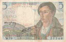 5 F Berger - 1871-1952 Frühe Francs Des 20. Jh.