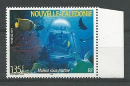 Nelle Calédonie 2001-N° 852-Maison Sous-marine - Neufs** - Nuovi