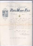 1 Document Lettre Pouvoir  Année 1898    Huilerie Et Savonnerie   Paul-Marc Fils - France