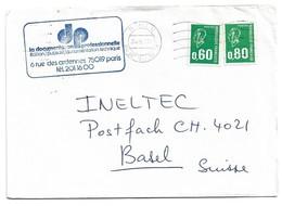 (C17) - Y&T N°1835+ 1893 - LETTRE PARIS => SUISSE 1976 TARIF 1-20 GRS DU 02/08/1976 - Brieven En Documenten