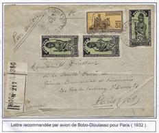 Haute-Volta Lettre Recommandée Avion Bobo Dioulasso 30/12/32 Registered Airmail Cover - Upper Volta (1920-1932)