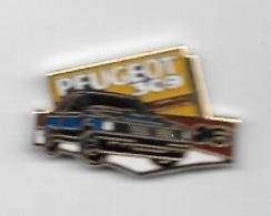 Pin's  Automobile  PEUGEOT  309  GTI  Bleu  Signé  HELIUM - Peugeot