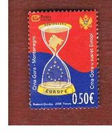MONTENEGRO   - MI 183 -   2008 MONTENEGRO ENCOUNTERS EUROPE   -   USED - Montenegro