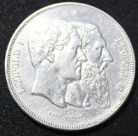 """LEOPOLD II. 5 FRANCS 1830-1880 TYPE """"CINQUANTENAIRE""""   TOP KWALITEIT   4 AFBEELDINGEN - 11. 5 Francs"""