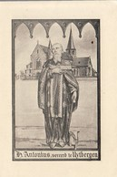 """""""Uytberghen  """" Bidprent Met Kerk - H.Antonius , Vereerd Te Uytbergen - Devotion Images"""