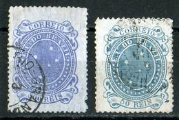 Brésil 1890 Croix Du Sud / Southern Cross 300 Violet (light Tear Right Down) 50 Blue   See Varieties - Brésil