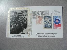 Enveloppe  1983  Oyonnax 11 Novembre 1943 Les Maquisards Défilent Libération  Cachet  Ain - Storia Postale
