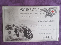 Tombola Organisee Au Profit De La Croix Rouge - Red Cross
