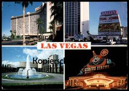 ÄLTERE POSTKARTE LAS VEGAS NEVADA CIRCUS CIRCUS CLOWN HILTON HOTEL TOM JONES USA Postcard Cpa AK Ansichtskarte - Las Vegas