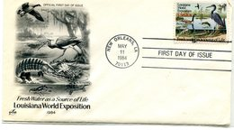 UNITED STATES 1984 FDC With GOOSE/HERON.BARGAIN.!! - Oies