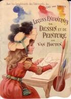 """Livret De 12 Pages """"Leçons Enfantines De Dessin Et De Peinture"""". Offert Par Cacao Van Houten. TB état - Art"""