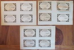 Lot De 24 Assignats De 5 Cinq Livres - Créés 10 Brumaire An 2 (1793)  - Cf 7 Photos - Assignat - Assegnati