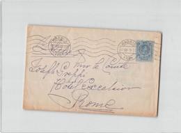 9180 01 ESPANA MADRID TO ROMA - TIMBRO BOLOGNA CENSURA MILITARE - 1889-1931 Regno: Alfonso XIII
