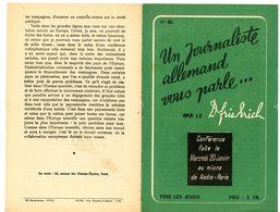 20 JANVIER 1943 UN JOURNALISTE ALLEMAND VOUS PARLE CONFERENCE AU MICRO DE RADIO-PARIS PAR LE DR FRIEDRICH ( PRO VICHY PR - Storia Postale