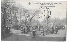 BOUSSU-lez-MONS --Pensionnat De La Ste-Union - Partie De Jardin ( Groupe D'élèves ) - Boussu