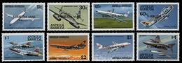 Barbuda 1989 - Mi-Nr. 1133-1140 ** - MNH - Flugzeuge / Airplanes - Antigua E Barbuda (1981-...)