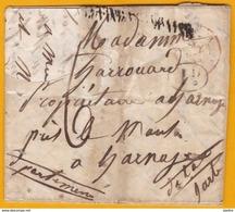1844 - Lettre Avec Corresp. Familiale De 2 Pages De Cayenne, Guyane Française Vers Le Mans - Voie Anglaise - Cad Arrivée - Guyane Française (1886-1949)