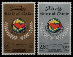 Qatar 1983 - Mi-Nr. 854-855 ** - MNH - Rat Der Golfstaaten - Qatar