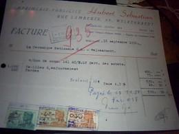 BELGIQUE Facture  Imprimerie Publicitè Hubert Sebastien A Welkenraedt Annèe 1950 Fiscaux - Imprenta & Papelería