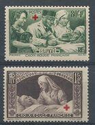 FRANCE - YT N°459 Et 460 - Au Profit Des Bléssés - Croix Rouge - Neuf** - TTB Etat - France