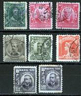 Brésil 1906 Serie Celebrities 11 Stamps N° 130, 131 (2), 133, 134, 135 (2), 138   See Condition - Brésil