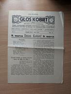 "Poland Czech Bogumin Newspaper ""Glos Kobiet@ 1913 - Advertising"