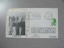 Enveloppe 1984 40 è Anniversaire - Libération De La Roche Sur Yon  cachet   Vendée - Marcophilie (Lettres)