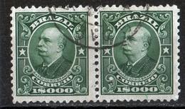 Brésil 1913 Barao Do Rio Branco 1000 R Green (pair) N° 145 - Brésil
