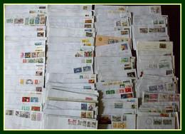 Lot + 200 Lettres Avec Timbres Commémoratifs France (courrier Récent De Ces Dernières Années Très Varié Et Fourni) - Vrac (max 999 Timbres)