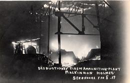 Real Photo Véritable - Sherbrooke 1917 - Incendie Fire - Usine Plant - Mackinnon Holmes - 2 Scans - Sherbrooke