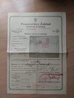 Insurance Poland Ukraine Stanislawow Tlumacz 1931 - Invoices & Commercial Documents