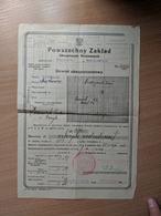 Insurance Poland Ukraine Stanislawow Tlumacz 1932 - Invoices & Commercial Documents