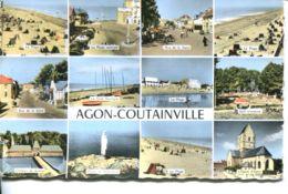 N°72828 -cpsm Agon Coutainville -multivues- - Autres Communes