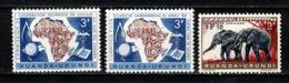 Ruanda Urundi 1960 OBP/COB 217/18**, 224** MNH - Ruanda-Urundi
