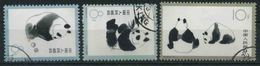 1963 Cina, Panda Geant, Serie Completa Usata - Oblitérés