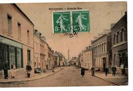 BERLAIMONT GRANDE RUE CARTE COULEUR TRES ANIMEE - Berlaimont