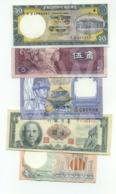 Set 5 Banknotes (see Scan) - XXF/aUNC- - Billets