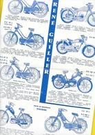 "Catalogue Cyclomoteurs Motos ""René GUILLER"" Fontenay 2 Pages Format 23 X 35 Cm Env. - Motos"