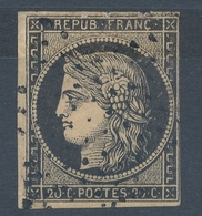 N°3 OBLITERATION ETOILE - 1849-1850 Ceres