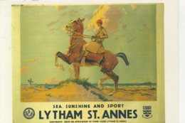 ADVERT - LONDON, MIDLAND & SCOTTISH RAILWAY POSTER - LYTHAM ST ANNES (REPRO) F200 - Advertising