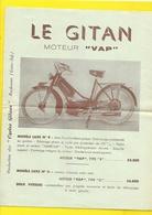 """Publicité Cyclomoteur """"LE GITAN"""" De GITANE Moteur VAP Format A4 Env. - Motos"""