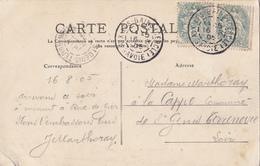 """SAVOIE CP 1905 BUREAU D'INTERETS PRIVES A GERANCE GRATUITE INSTALLE AU CASINO """"AIX LES BAINS (CERCLE) SAVOIE"""" T84 - Marcophilie (Lettres)"""